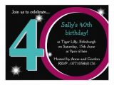 Zazzle 40th Birthday Invitations Bold Pink & Teal fortieth 40th Birthday Party 14 Cm X 19