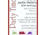 Zazzle 40th Birthday Invitations Personalized 40th Birthday Party Invitation