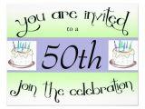 "Zazzle 50th Birthday Invitations 50th Birthday Party Personalized Invitation 4 25"" X 5 5"
