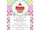 "Zazzle Birthday Party Invitations Bright Cupcake 1st Birthday Party Invitation 5"" X 7"