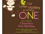 Zazzle Birthday Party Invitations Cute Modern Monkey 1st Birthday Party Invitations