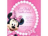 Zazzle Birthday Party Invitations Minnie Pink and White Birthday Invitation