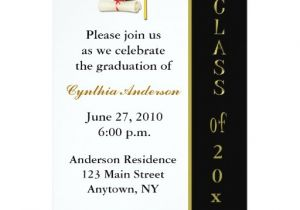 Zazzle Graduation Invitations Cap Diploma Black Gold Graduation Invitation Zazzle