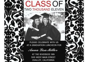 Zazzle Graduation Invitations Photo Graduation Invitations Damask Swirls Zazzle Com