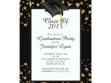 Zazzle Graduation Party Invitations Modern 2015 Gold Black Graduation Party Invitation