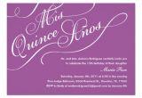 Zazzle Quinceanera Invitations Purple Elegant Quinceanera Invitations Zazzle