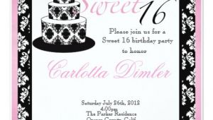 Zazzle Sweet 16 Birthday Invitations Sweet Sixteen Birthday Party Invitations