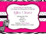 Zebra Baby Shower Invites April 2014 Custom Invitations by Ekwebdesigns