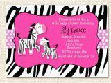 Zebra Baby Shower Invites Items Similar to Zebra Baby Shower Invitations On Etsy