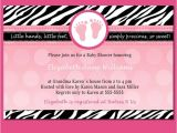 Zebra Baby Shower Invites Pink Zebra Invitation Template