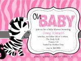 Zebra Baby Shower Invites Zebra Baby Shower Invitations Template Best Template