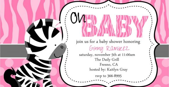 Zebra Baby Shower Invites Zebra Baby Shower Invitations Template Best Template