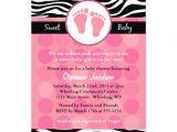 "Zebra Print Baby Shower Invites Mod Zebra Print Baby Shower Invitations 5"" X 7"" Invitation"
