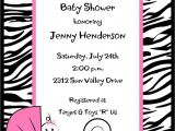 Zebra Print Baby Shower Invites Zebra Print Baby Shower Invitations by Pmcinvitations On Etsy