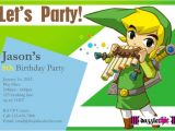 Zelda Party Invitations Items Similar to Zelda Link Party Invite Only On Etsy