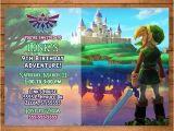 Zelda Party Invitations Legend Of Zelda Invitation Link Zelda Invite Zelda