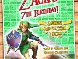 Zelda Party Invitations Link Birthday Invitation Zelda Invitation Video Game