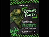 Zombie Baby Shower Invitations Zombie Birthday Invitations – Gangcraft