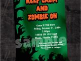 Zombie Baby Shower Invitations Zombie Halloween Invitations Printable or Printed