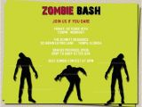 Zombie Baby Shower Invitations Zombie Party Invitation Wording