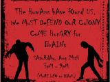 Zombie Baby Shower Invitations Zombie Party Invitations