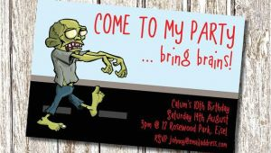 Zombie Birthday Invitation Template Zombie Birthday Party Invitation Printable and Personalised