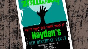 Zombie Birthday Party Invitation Template Zombie Birthday Party Invitation Printable