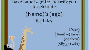 Zoo Birthday Invitation Template Free 40th Birthday Ideas Free Animal Birthday Invitation Templates