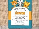 Zoo themed Baby Shower Invitations Baby Shower Invitation Zoo themed Printable by