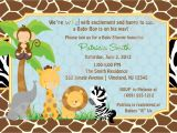 Zoo themed Baby Shower Invitations Baby Shower Invitations Safari theme Wording